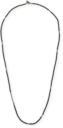 M. Cohen Men's Mini Gemstone Beaded Necklace, Black
