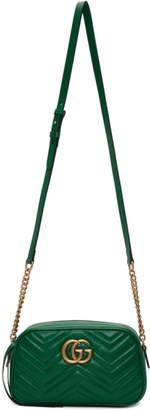 Gucci Green Small GG Marmont Camera Bag