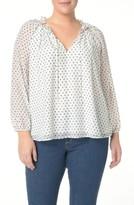 NYDJ Plus Size Women's Stella Clip Jacquard Blouse