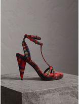 Burberry Tartan Wool Cone-heel Sandals
