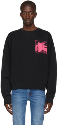 Off-White Black and Pink Oversized Skulls Floating Sweatshirt