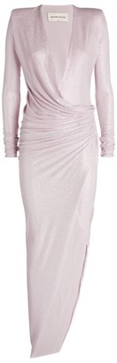 Alexandre Vauthier Crystal-Embellished Ruched Gown