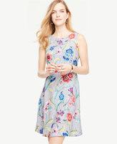 Ann Taylor Petite Jungle Floral Flare Dress
