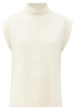 Cefinn Janice Roll-neck Sleeveless Wool-blend Sweater - Cream