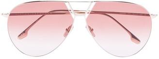 Aviator gradient-lens sunglasses