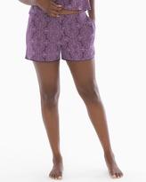 Soma Intimates Satin Trim Pajama Shorts Imperial Nightshade