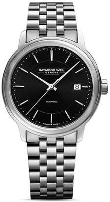 Raymond Weil Maestro Stainless Steel Link Bracelet Automatic Watch, 39.5mm
