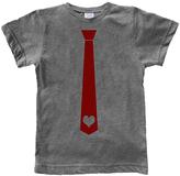 Urban Smalls Heather Gray Heart Tie Tee - Toddler & Boys