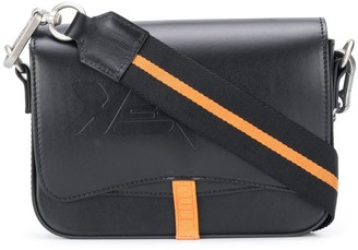 Heron Preston Embossed Logo Stripe Detail Satchel Bag