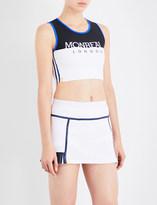 Monreal London Athlete logo-print stretch-jersey cropped top