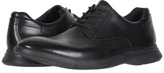 Clarks Un Lipari Park (Black Leather) Men's Shoes
