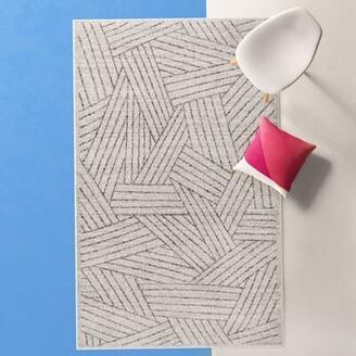 Latitude Run Stallworth Abstract /Geometric Gray Area Rug Rug Size: Rectangle 5' x 8'
