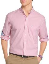 Izod Advantage Performance Long Sleeve Non Iron Stripe Button-Front Shirt