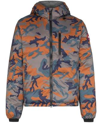 Canada Goose Lodge hooded camouflage-print puffer jacket
