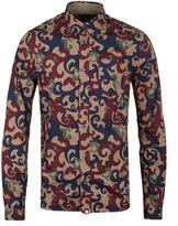 Pretty Green Riley Camouflage Paisley Print Long Sleeve Shirt