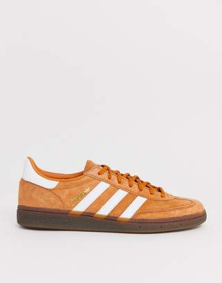 adidas handball spezial trainers in copper with gum sole