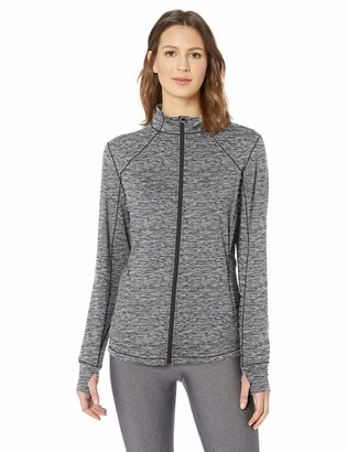 Amazon Essentials Women's Brushed Tech Stretch Full-Zip Jacket