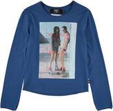 Le Temps Des Cerises Blue cotton jersey T-shirt