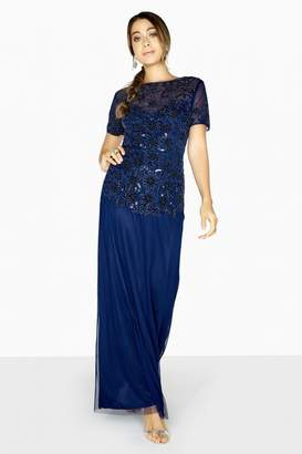 Little Mistress Sofia Hand-Embellished Maxi Prom Dress
