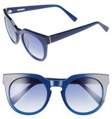 Derek Lam Women's 'Stella' 51Mm Round Sunglasses - Ink
