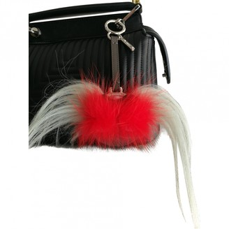 Fendi Grey Leather Bag charms