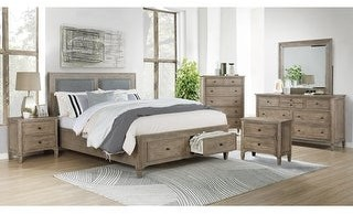 Furniture of America Banister Transitional Grey 6-piece Bedroom Set