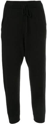 Nili Lotan Cashmere Cropped Track Pants