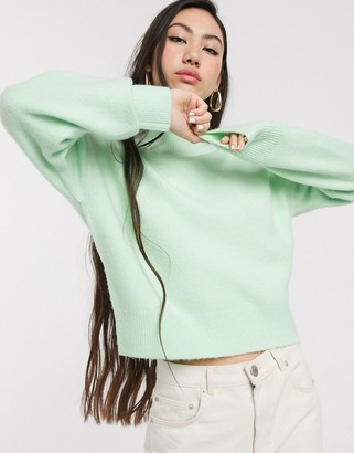 And other stories & high neck sweater in pastel green