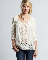 Lucky Brand Lizzie Battenberg Lace Top