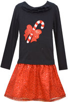 Bonnie Jean Candy Cane Dress - Girls 7-12