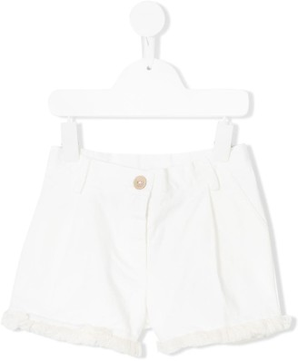 Opililai Fringed Trim Shorts