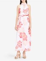 Calvin Klein Floral Halter Chiffon Maxi Dress