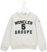 Moncler logo sweatshirt - kids - Cotton - 4 yrs