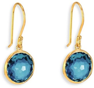 Ippolita Lollipop Small 18K Yellow Gold & London Blue Topaz Drop Earrings