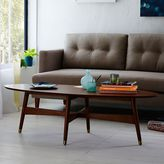 west elm Reeve Mid-Century Oval Coffee Table - Pecan