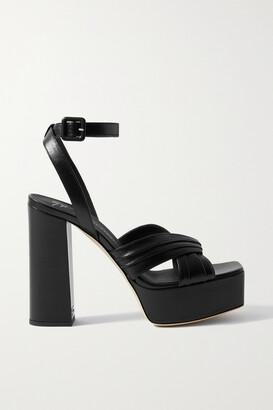 Giuseppe Zanotti Leather Platform Sandals - Black