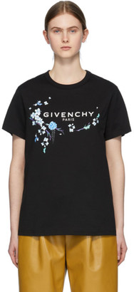 Givenchy Black Floral Logo T-Shirt