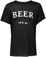 The Elder Statesman Beer T-shirt - unisex - Silk/Cashmere - M