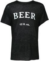 The Elder Statesman Beer T-shirt - unisex - Silk/Cashmere - M