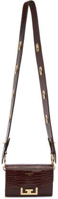 Givenchy Burgundy Croc Nano Eden Belt Strap Pouch