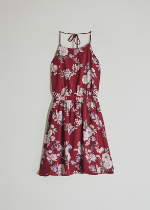 Farrow Women's Cecile Floral Dress in Burgundy, Size Small | Spandex