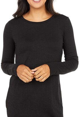 Toad&Co Windmere II Long Sleeve Dress (Black) Women's Clothing