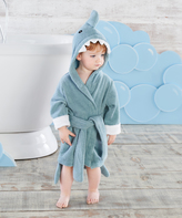 Baby Aspen Blue Let the Fin Begin Shark Bath Robe - Infant