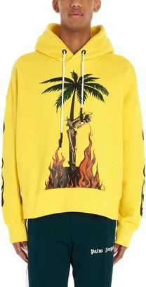 Palm Angels burning Skeleton Hoodie