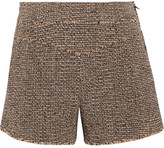 Chloé Wool-blend Tweed Shorts - Brown