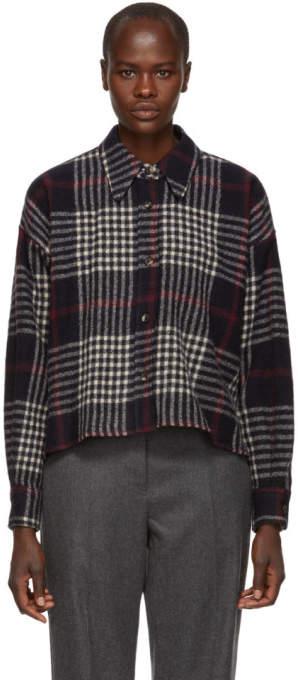 Isabel Marant Navy Hanao Wool Shirt