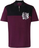 Versace zip polo shirt