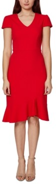 Betsey Johnson V-Neck Flounce A-Line Dress