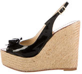 Kate Spade Patent Leather Espadrille Wedges
