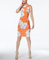 Calvin Klein Petite Printed Starburst Sheath Dress